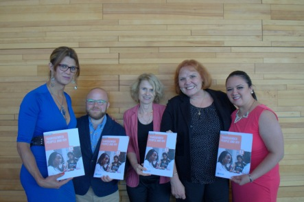 Featured from left to right: Rafaelly Wiest, Trans group Marcela Prado; Ayden Scheim, Gay/Bi/Queer/Trans Men's Working Group & Gay Men's Sexual Alliance; Annette Verster, World Health Organization; JoAnne Keatley, Center of Excellence for Transgender Health; Esmeralda Roman-Mar: Clínica Condesa.