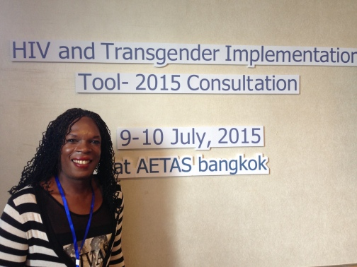 Beyonce Karungi at the Transgender Implementation Tool (TRANSIT) Consultation in Bangkok, Thailand.